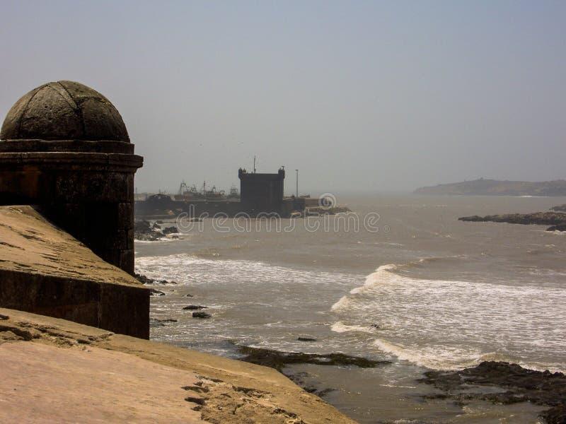 fortezza storica del Marocco del monumento di essaouira immagini stock