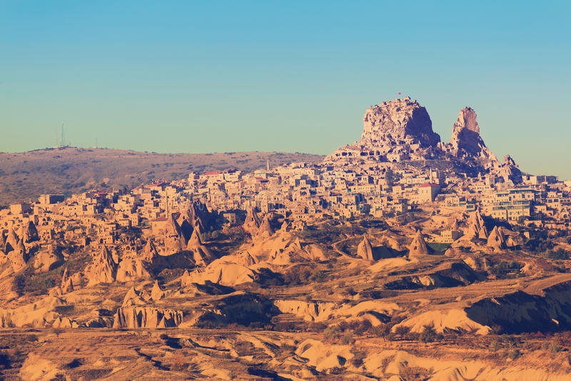 Fortezza turca Uchisar fotografia stock