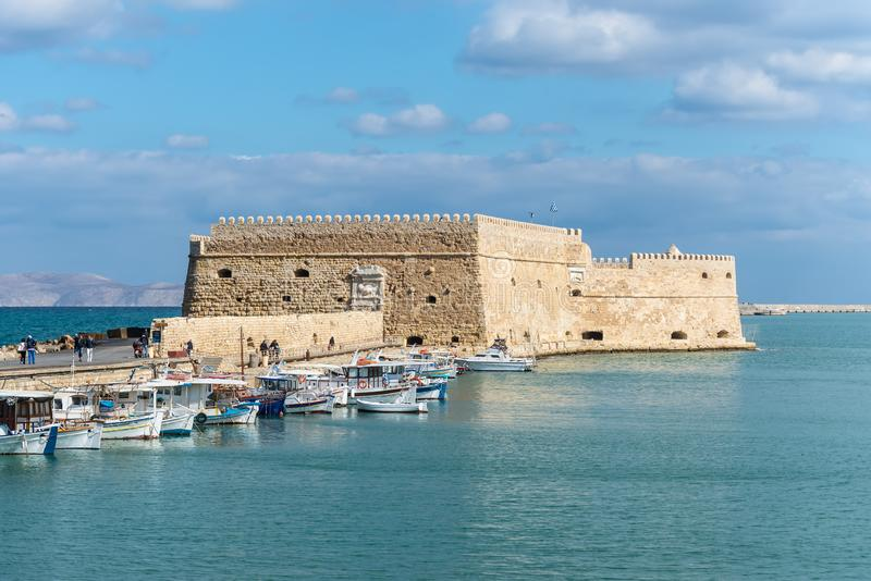 Fortezza veneziana Koules a Candia, Creta immagini stock