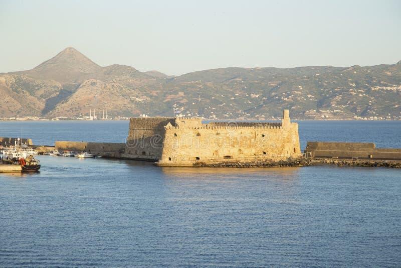 Fortezza veneziana Koules a Heraklion fotografie stock libere da diritti