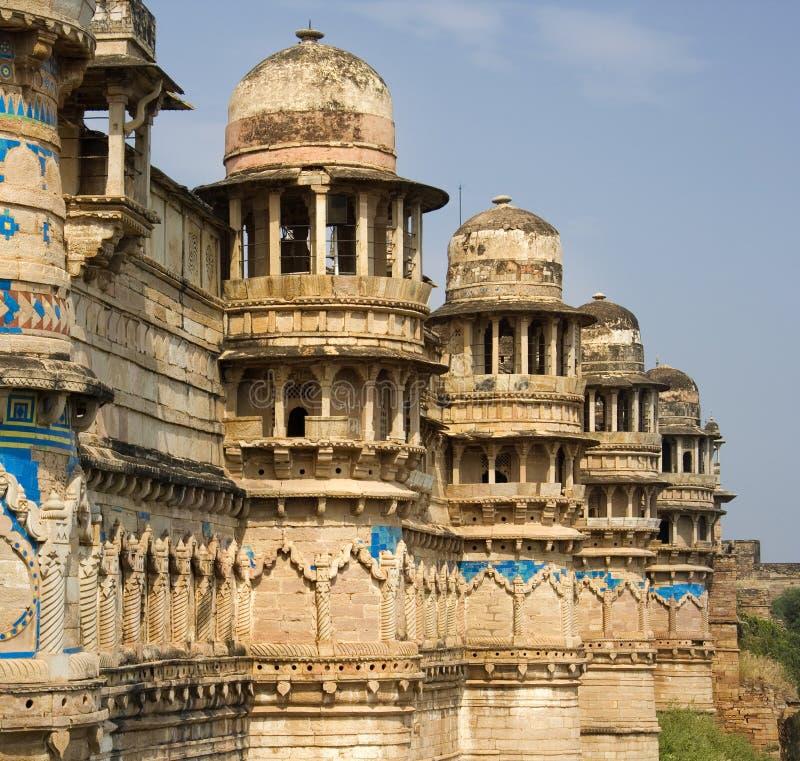 fortgwailor gwalior india arkivfoto