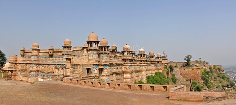 fortgwalior panorama arkivbild