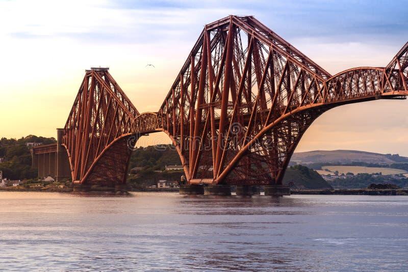 The Forth bridge Edinburgh. The Forth bridge, UNESCO world heritage site railway bridge in Edinburgh Scotland UK royalty free stock images
