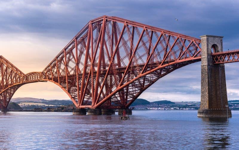 The Forth bridge Edinburgh. The Forth bridge, UNESCO world heritage site railway bridge in Edinburgh Scotland UK royalty free stock photography