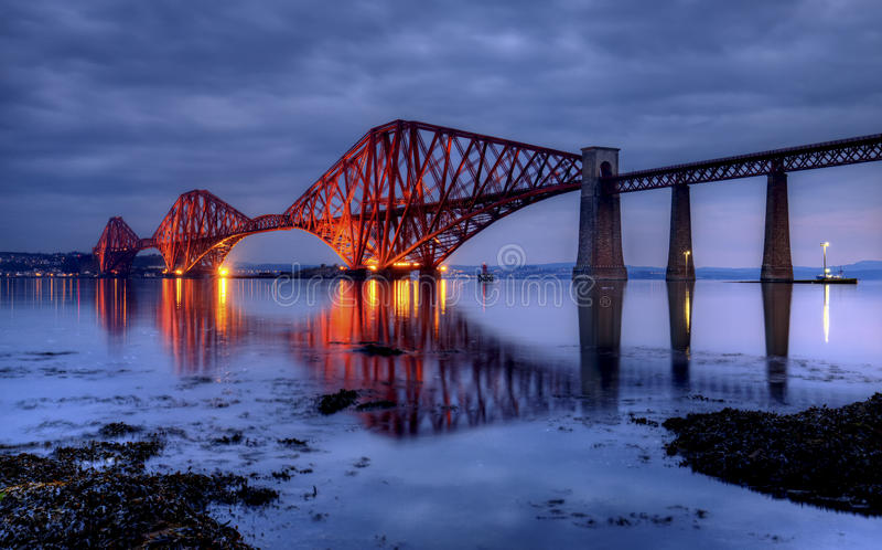 The Forth Bridge, Edinburgh, Scotland. UK stock photo