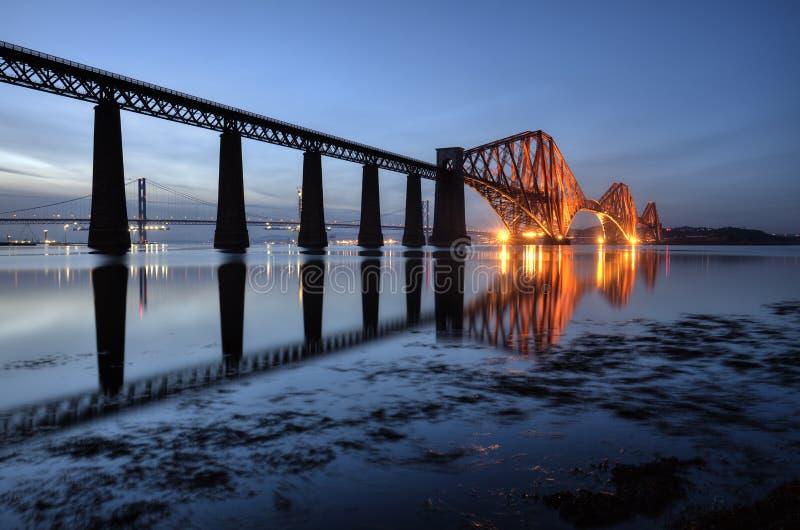 The Forth Bridge, Edinburgh, Scotland. UK royalty free stock photos