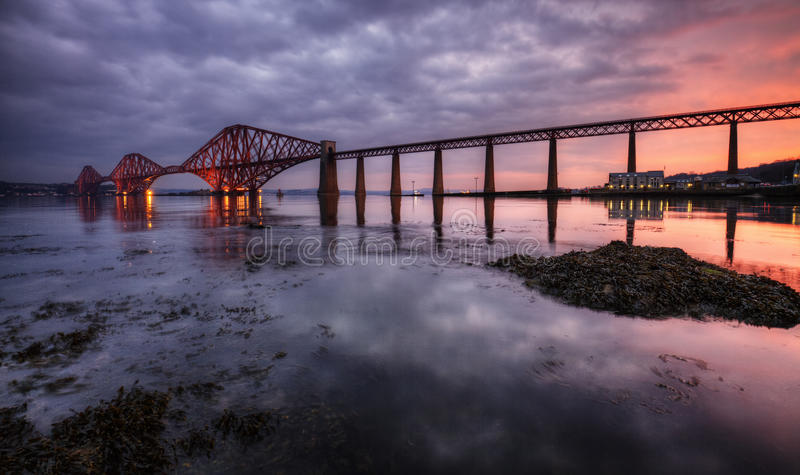 The Forth Bridge, Edinburgh, Scotland. UK royalty free stock images