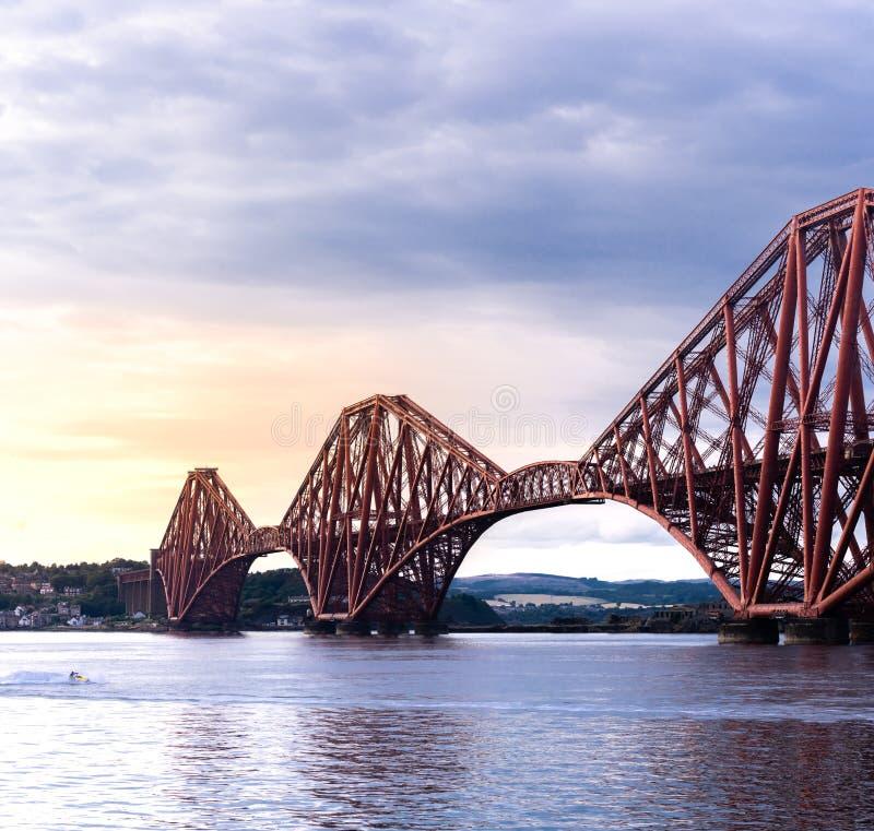The Forth bridge Edinburgh. The Forth bridge, UNESCO world heritage site railway bridge in Edinburgh Scotland UK stock photo