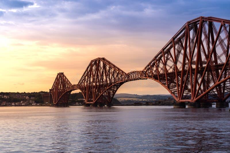 The Forth bridge Edinburgh. The Forth bridge, UNESCO world heritage site railway bridge in Edinburgh Scotland UK stock photography