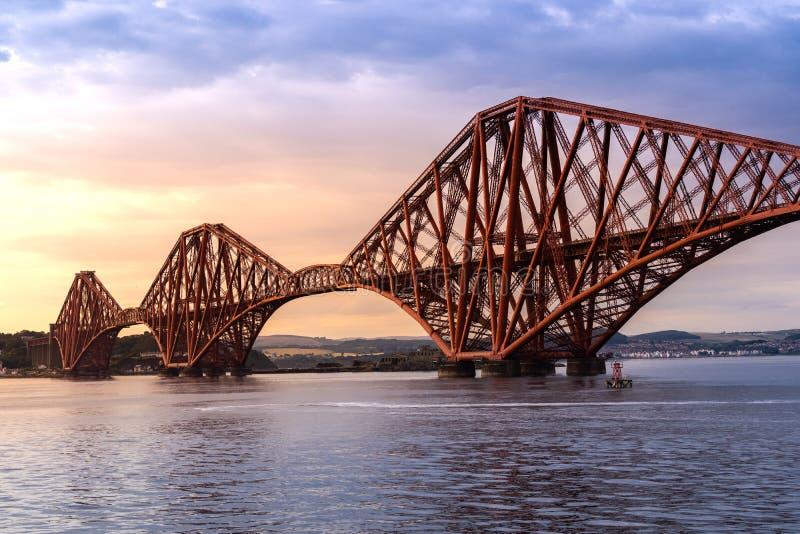 The Forth bridge Edinburgh. The Forth bridge, UNESCO world heritage site railway bridge in Edinburgh Scotland UK royalty free stock image