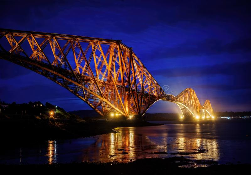 Forth Bridge Edinburgh United Kingdom. Taken in 2015 taken in HDR stock photos