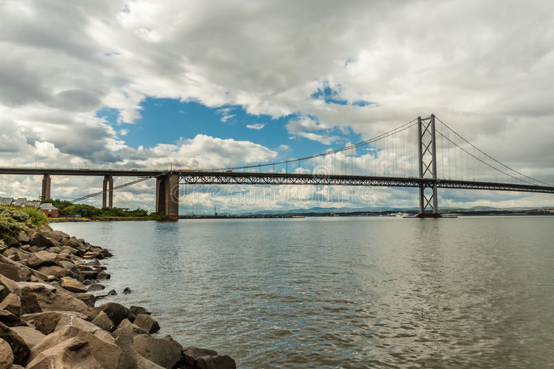The Forth Bridge, South Queensferry royalty free stock photography