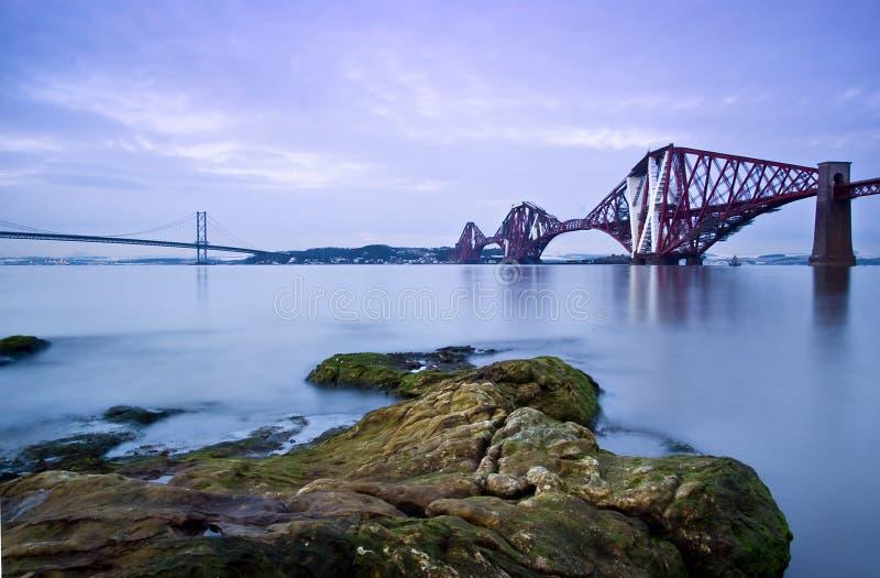 Forth Bridges, Edinburgh stock photography