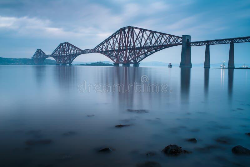 Forth bridges in Edinburgh stock images
