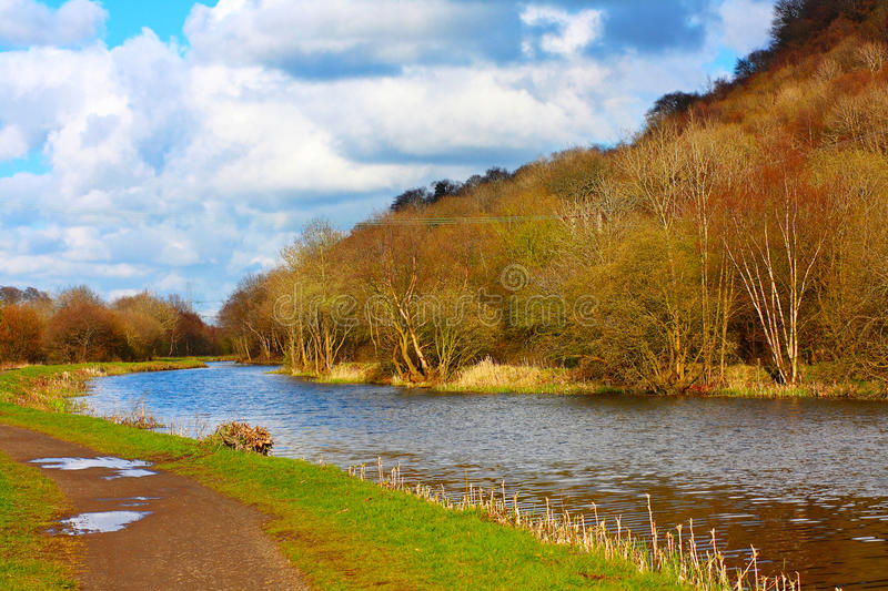 Download Forth And Clyde Canal In Springtime Stock Photo - Image of path, natural: 24465490