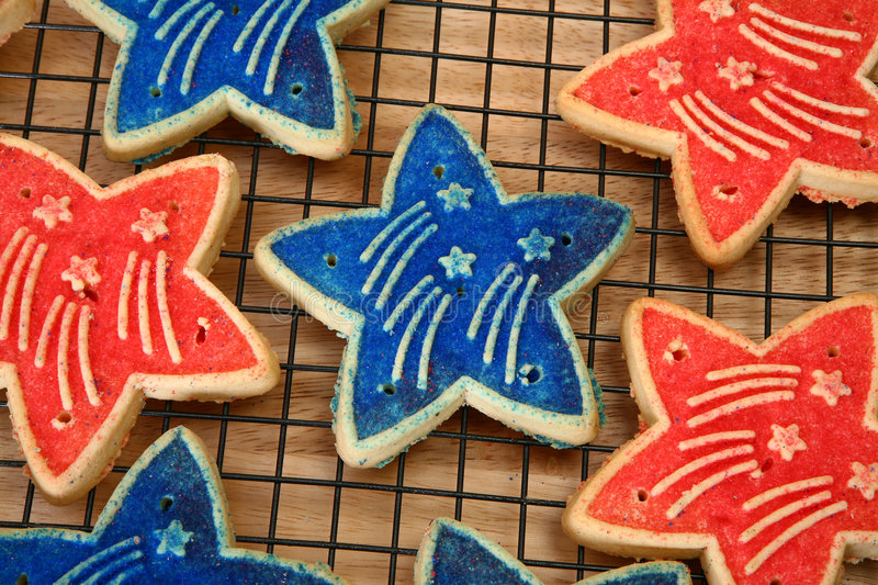 Download Forth of July Cookies stock photo. Image of event, american - 6269652