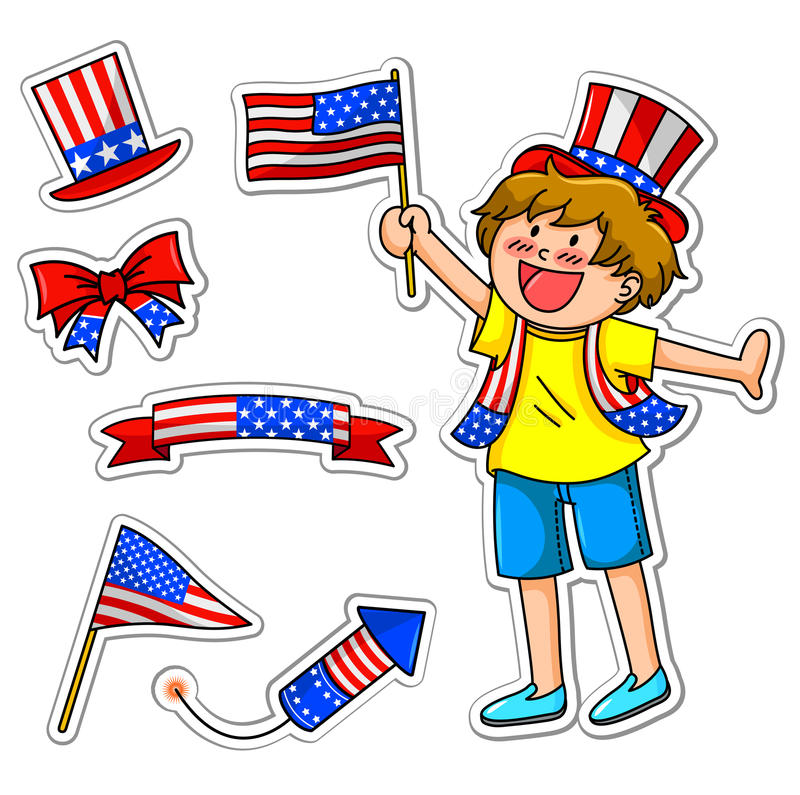 Download Forth of july set stock vector. Image of icons, america - 24654120