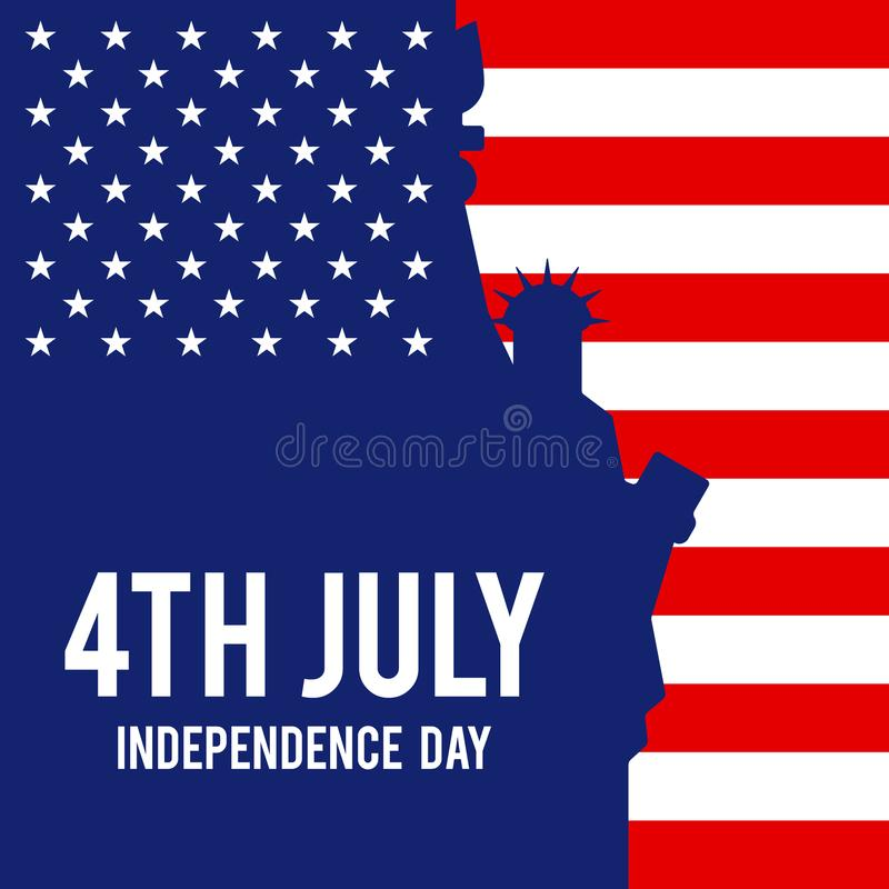 Forth of July, United States of America independence day poster. Forth of July, United States of America independence day. Design element template can be used vector illustration