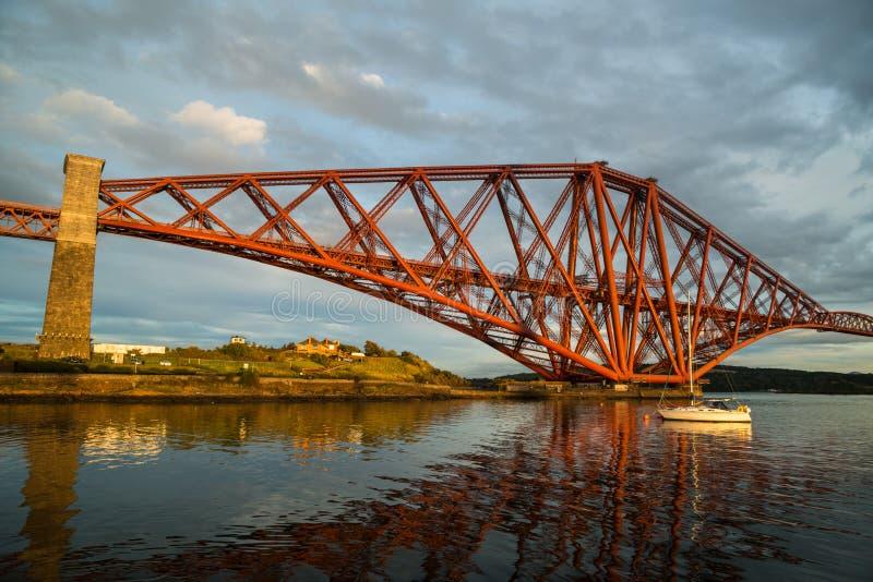 Forth Rail Bridge royalty free stock photos