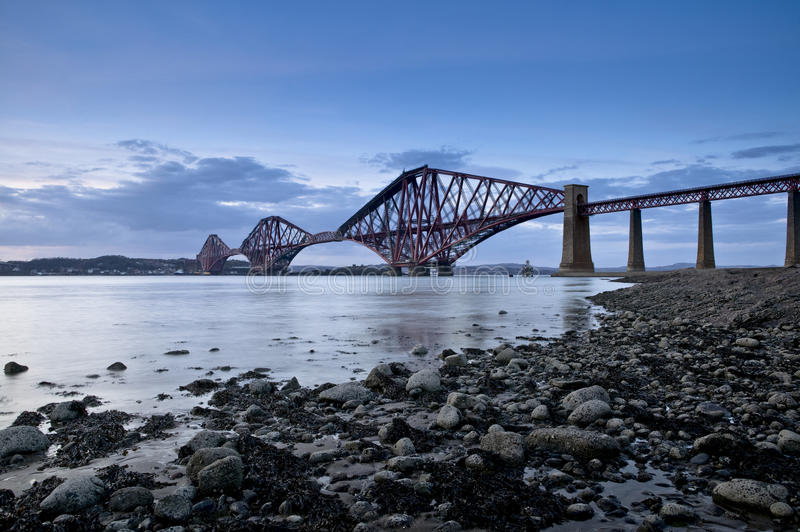 Forth Rail Bridge, Edinburgh, Scotland royalty free stock photos