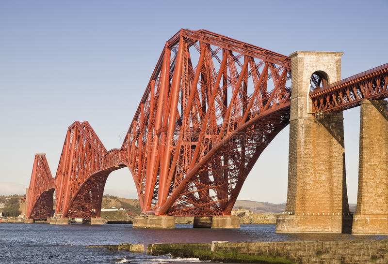 Forth Rail Bridge, Edinburgh, Scotland. This bridge connects the towns of North and South Queensferry stock photos