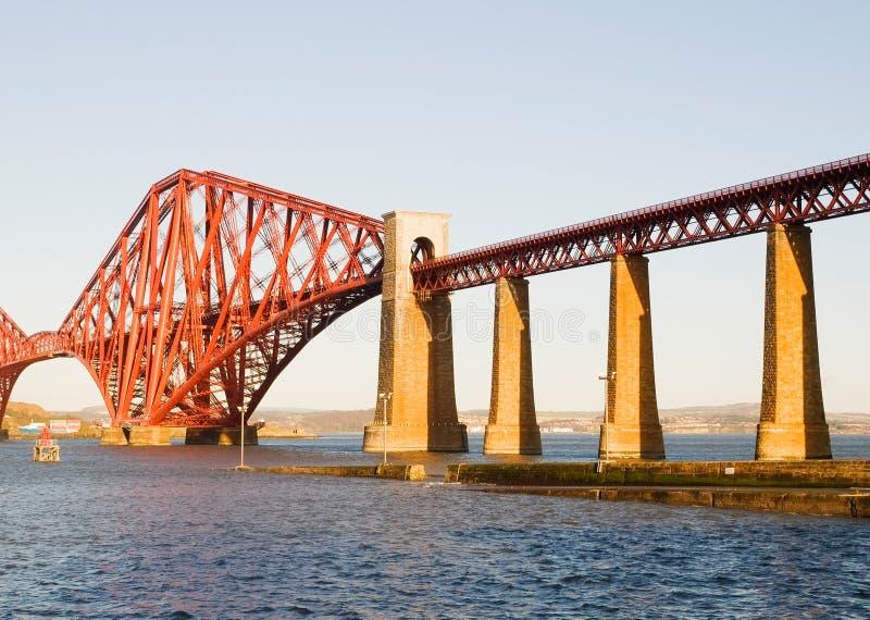 Forth rail bridge in Edinburgh. In a sunny day stock photos