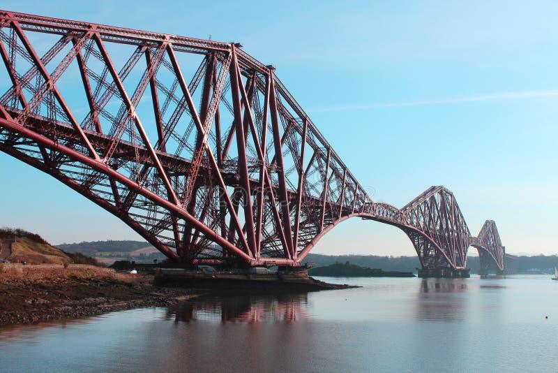Forth Rail Bridge Edinburgh. On a sunny day stock images