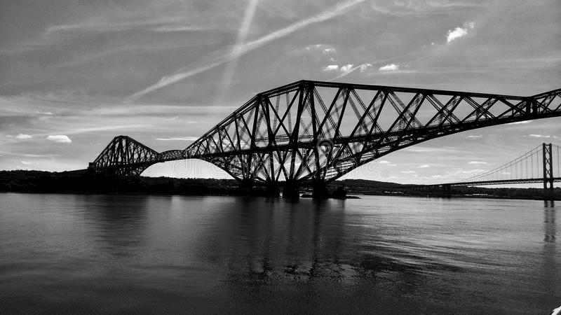 Forth Rail Bridge stock photography