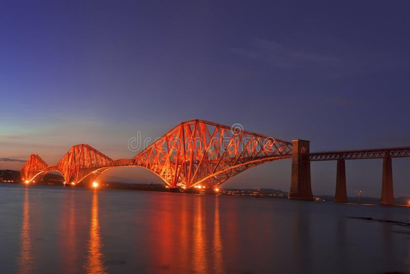 The Forth Rail Bridge , Scotland royalty free stock photography