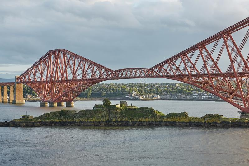 The Forth Rail Bridge, Scotland, connecting South Queensferry Edinburgh with North Queensferry Fife.  royalty free stock images