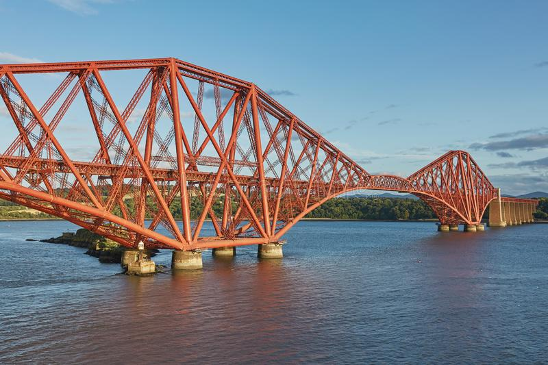 The Forth Rail Bridge, Scotland, connecting South Queensferry Edinburgh with North Queensferry Fife.  stock photo