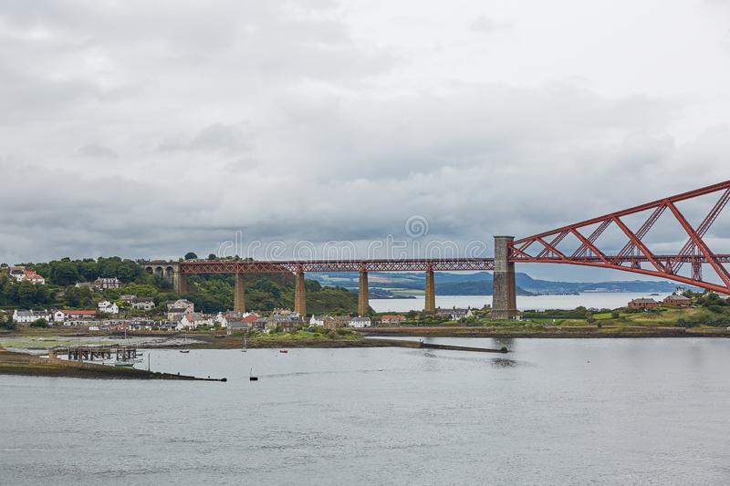 The Forth Rail Bridge, Scotland, connecting South Queensferry Edinburgh with North Queensferry Fife.  stock photography