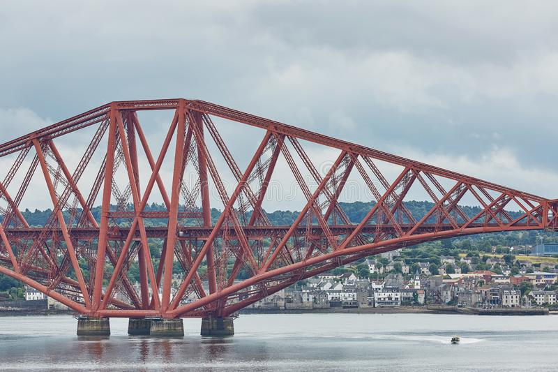 The Forth Rail Bridge, Scotland, connecting South Queensferry Edinburgh with North Queensferry Fife.  royalty free stock photos