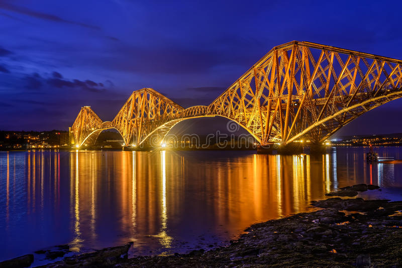 Forth Rail Bridge, Scotland, UK royalty free stock images