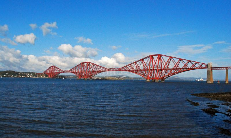 Forth rail bridge in Scotland is a UNESCO world heritage site royalty free stock photography