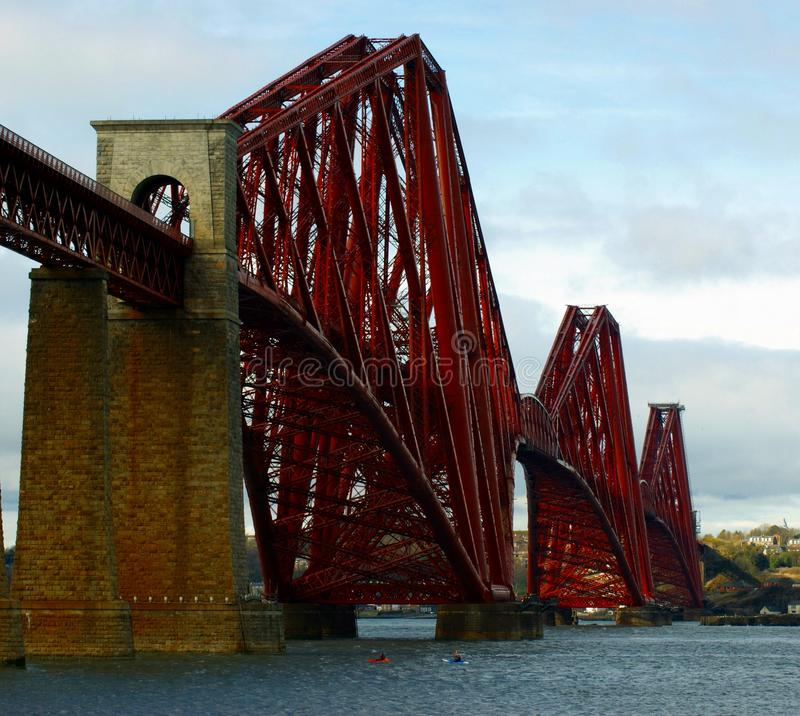 Forth Rail Bridge from South Queensferry royalty free stock photography