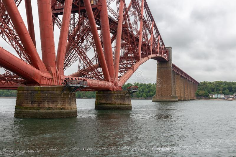 Forth Railway Bridge over Firth of Forth near Queensferry, Scotland. Forth Railway Bridge over Firth of Forth near Queensferry in Scotland royalty free stock image