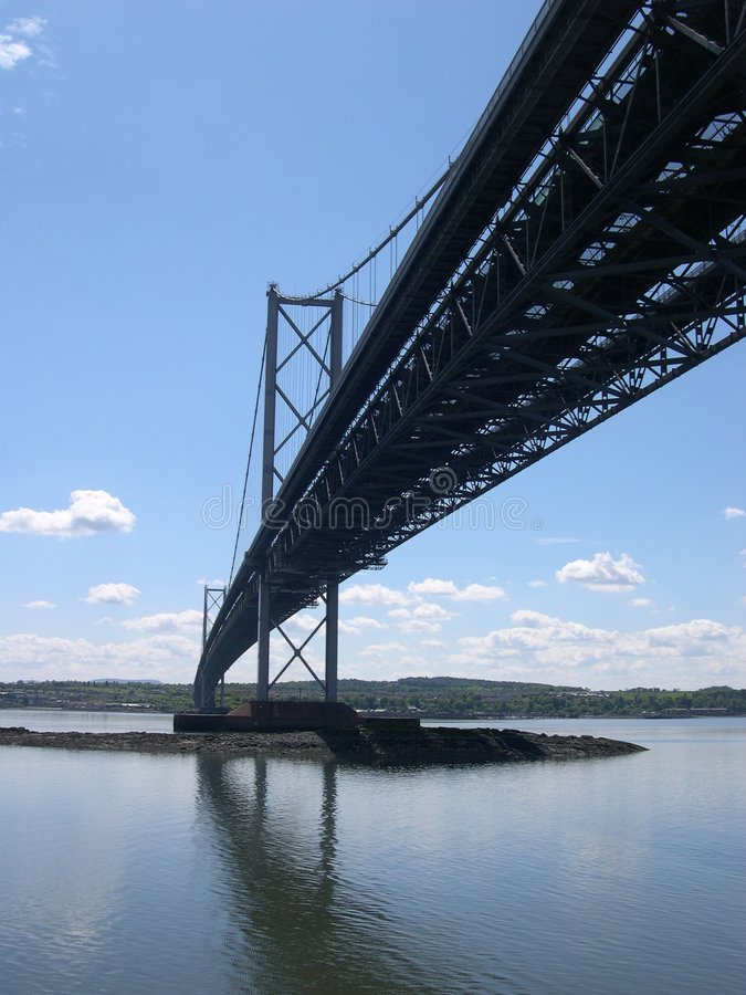 The Forth Road Bridge royalty free stock photography