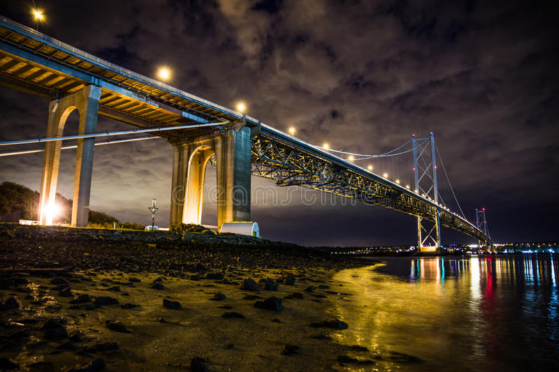 FORTH ROAD BRIDGE COLOUR stock images