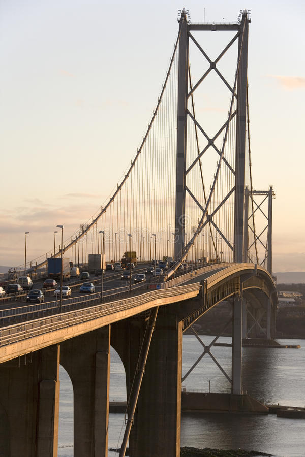 Forth Road Bridge - Edinburgh - Scotland stock photography