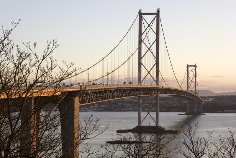 Forth Road Bridge - Edinburgh - Scotland royalty free stock photos