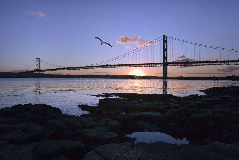 Forth Road Bridge - Edinburgh - Scotland royalty free stock photo
