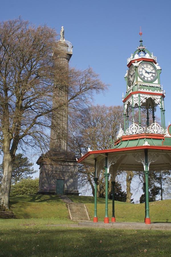 Forthill park z zabytkiem i bandstand, Enniskillen zdjęcia royalty free