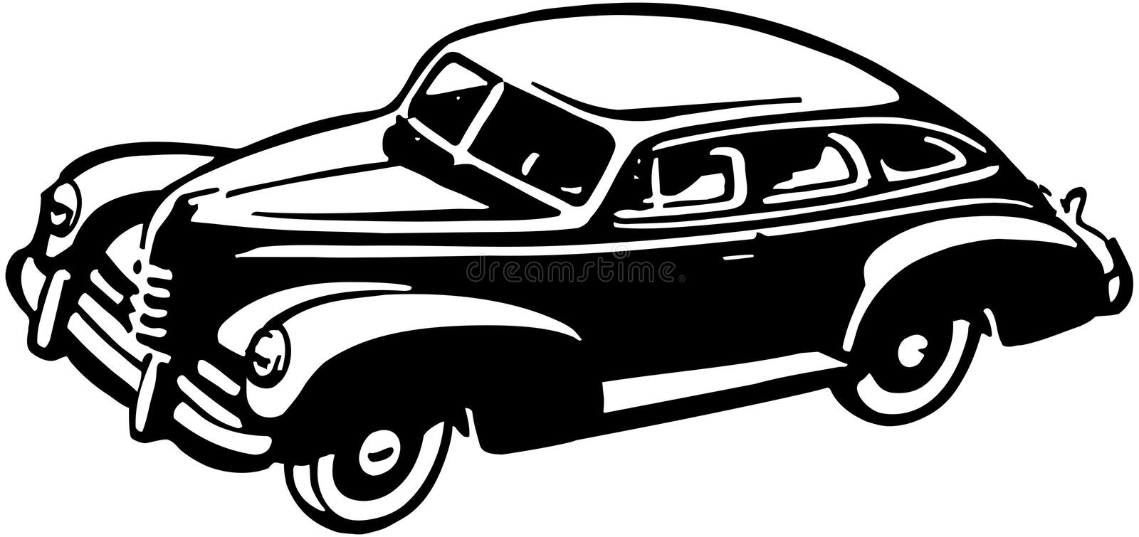 Forties Car stock illustration