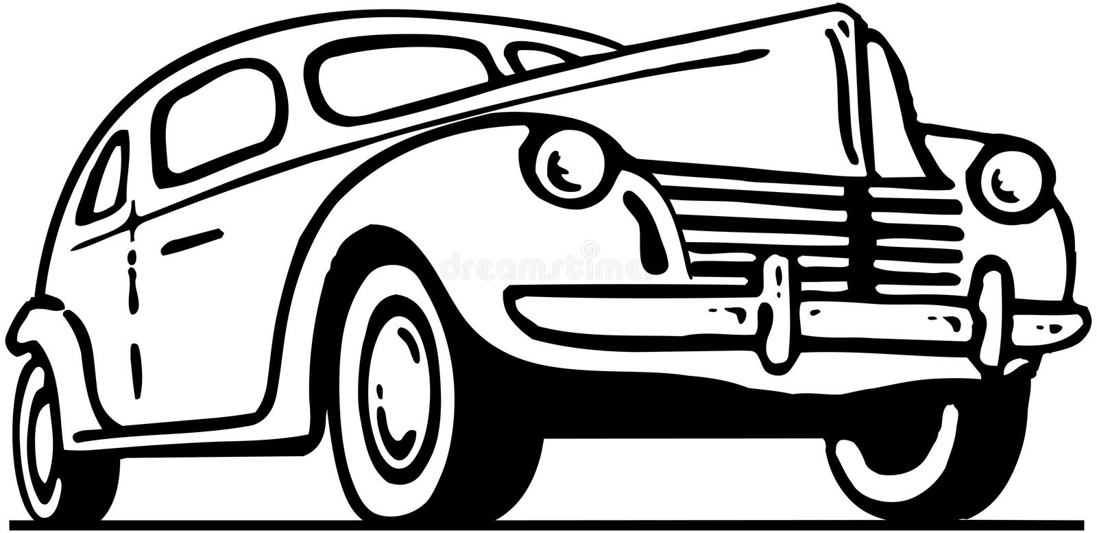 Forties Ford vector illustration