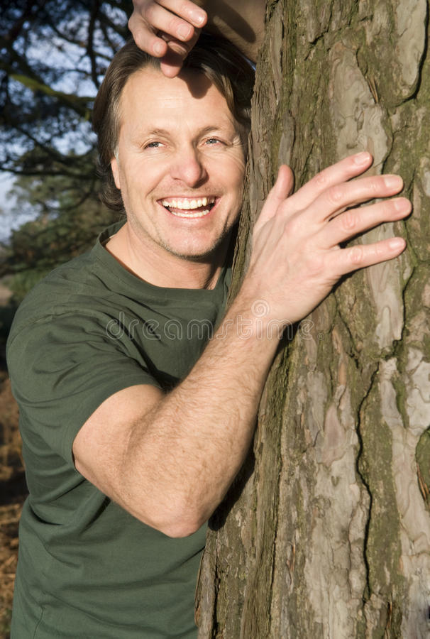 forties happy man smiling στοκ εικόνες με δικαίωμα ελεύθερης χρήσης