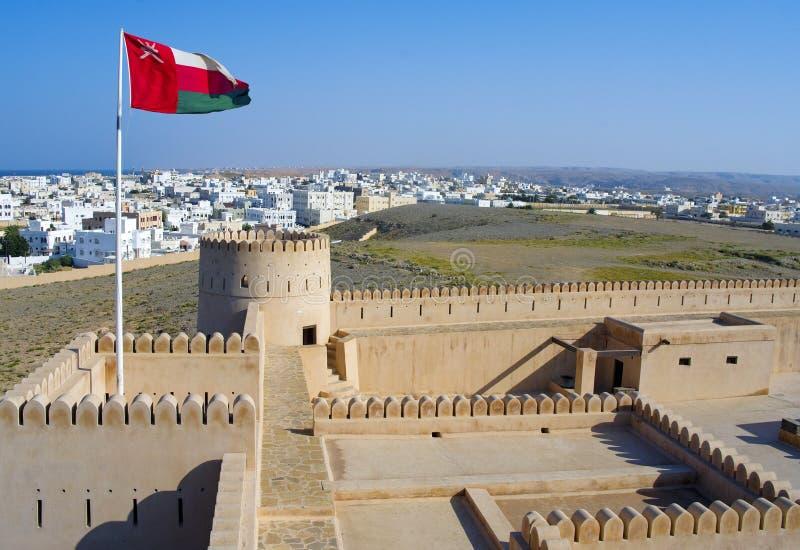 Fortificação, castelo de Sunaysilah ou forte histórico em Sur, Sul fotografia de stock