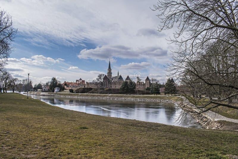 Fortificação da cidade em Nymburk, república checa imagens de stock