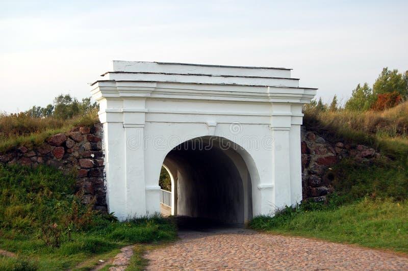 Fortificação de Annenkrone em Vyborg imagens de stock