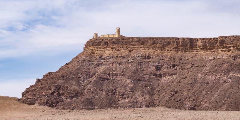 Fortificação egípcia da vigia em Israel Sinai Border imagens de stock